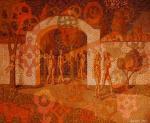 «Гульба(сюжет картины разворачивается в Рязанском Кремле, под аркой в которой в 2000 году были установлены железные ворота)»