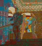 «Парень Герань (на картине изображена сцена в Рязанском художественном училище, на лестнице 1786 года, бывшая женская гимназия).