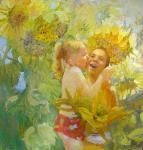 """""""Цвет счастья"""", холст, масло, 2009 г."""