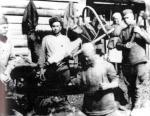 На заготовке дров, 1944 г.