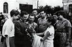 Проводы комсомольцев-добровольцев г. Рязани на стройки пятилетки