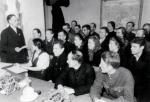 """Партийное собрание в колхозе """"Заветы Ильича"""" Шелуховского района, 1953 г."""